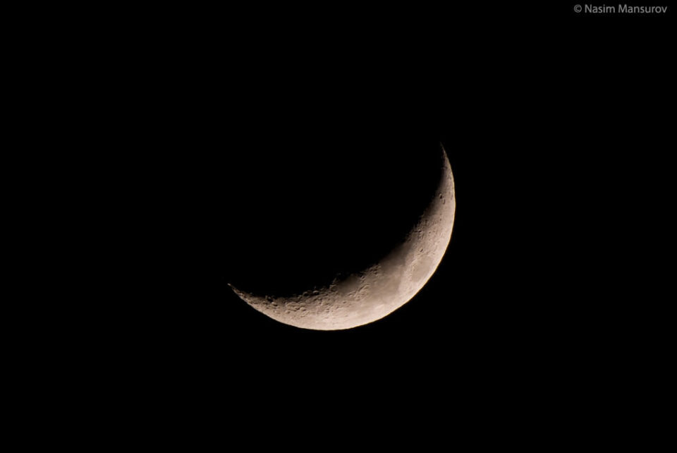Crescent Moon - Moon Photography Explained