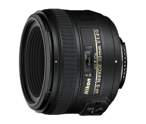 Nikon 50mm f/1.4G AF-S lens - this lens has a maximum aperture of f/1.4