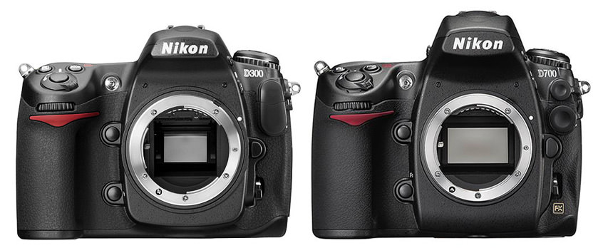 Mirror size differences between Nikon D300 and D700. Mirror size is why DX vs FX debate can be difficult, since many prefer larger mirrors and viewfinders.