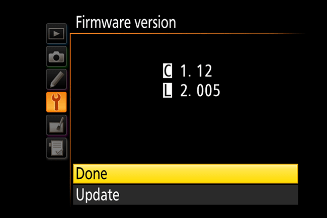 Nikon Camera Firmware Updated