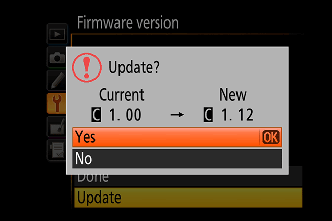 Nikon D810 Update to New Firmware