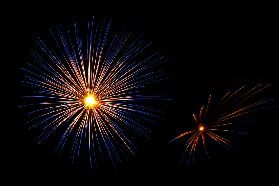 Photographing fireworks can sometimes work in horizontal orientation, but you will find vertical compositions to give you more headroom.