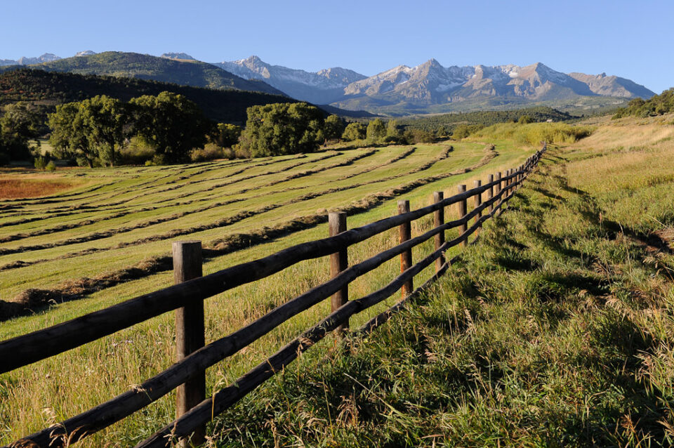 San Juan mountains with a fence #1