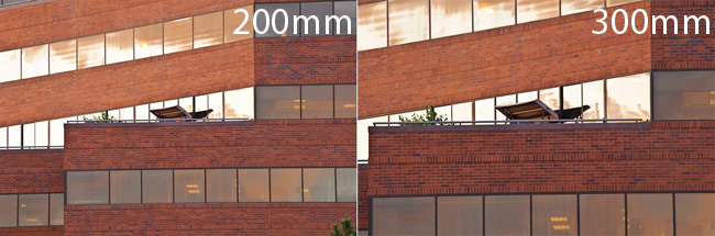 FoV difference between 200mm and 300mm