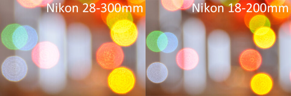 Nikon 28-300mm vs Nikon 18-200mm Bokeh