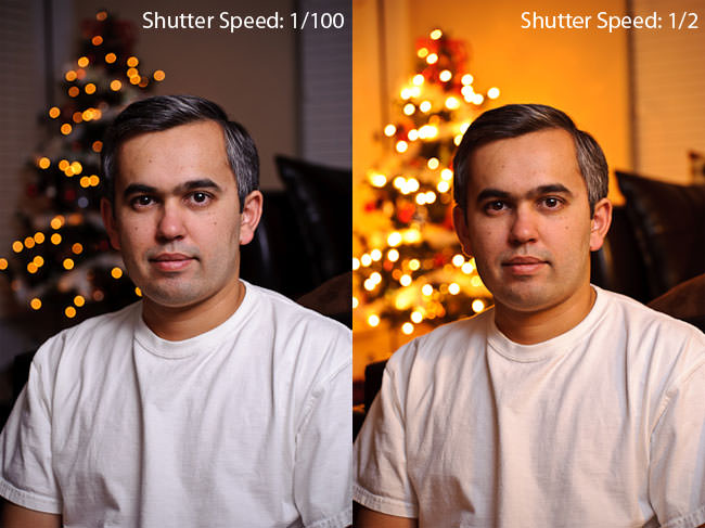 Shutter Speed Ambient Light Difference