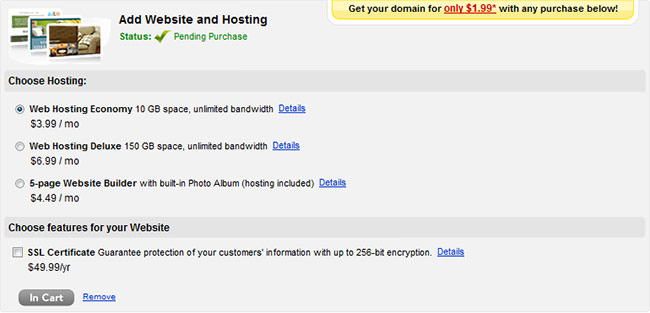Add Website and Hosting