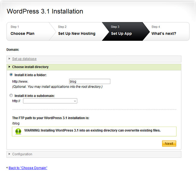 WordPress Easy Install 3