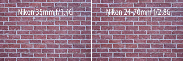Nikon 35mm f/1.4G vs Nikon 24-70mm f/2.8G Distortion