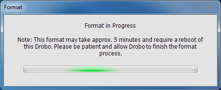 DroboPro - Format in Progress