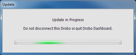 DroboPro - Update in Progress
