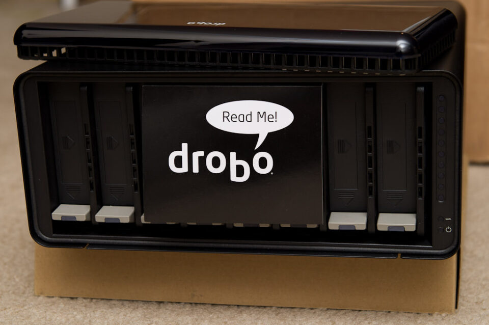 DroboPro Cover Removed