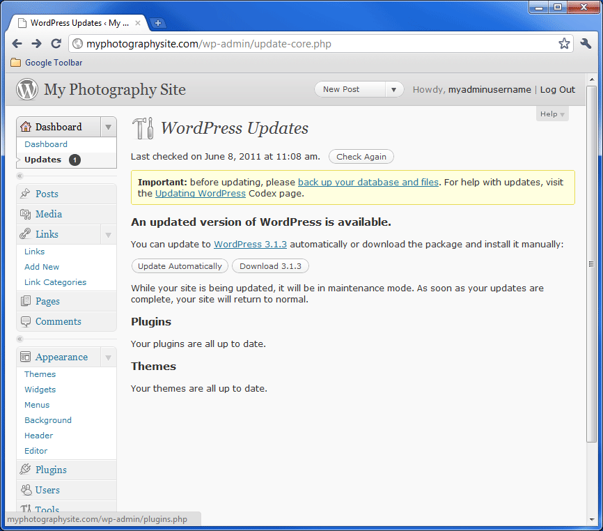WordPress Update 2