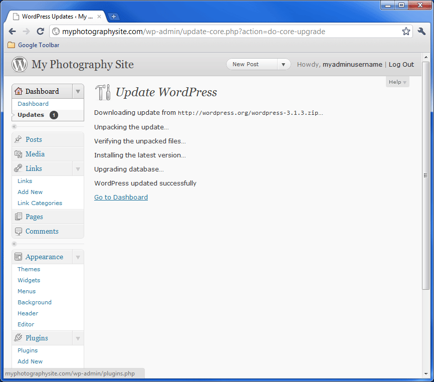 WordPress Update 3