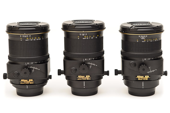 Nikon 24mm PC-E vs Nikon 45mm PC-E vs Nikon 85mm PC-E
