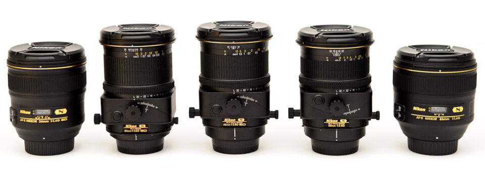 Nikon 24mm vs Nikon 24mm PC-E vs Nikon 45mm PC-E vs Nikon 85mm PC-E vs Nikon 85mm