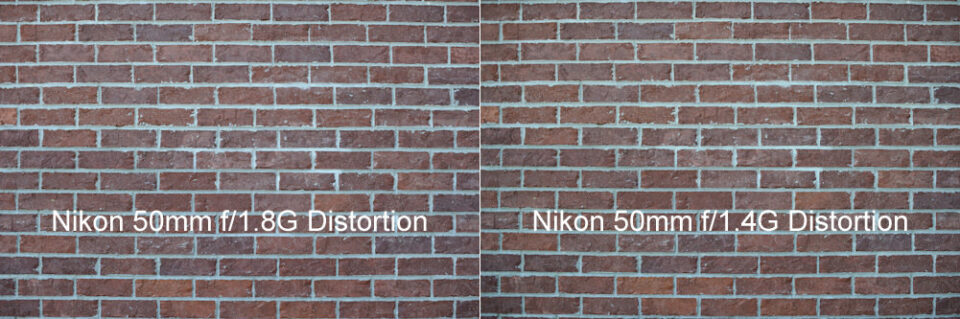 Nikon 50mm f/1.8G vs Nikon 50mm f/1.4G Distortion