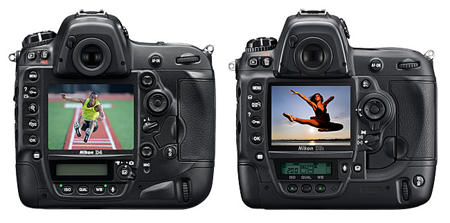 Nikon D4 vs D3s Back View