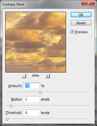 Photoshop Unsharp Mask
