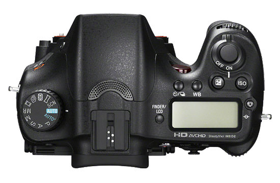 Sony A77 Top