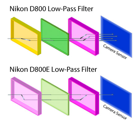 Nikon D800 vs D800E Low-Pass Filter