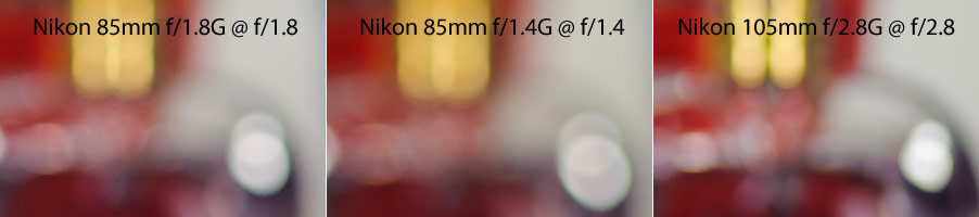 Nikon 85mm Bokeh Comparison Max Aperture