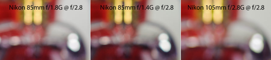 Nikon 85mm Bokeh Comparison f/2.8