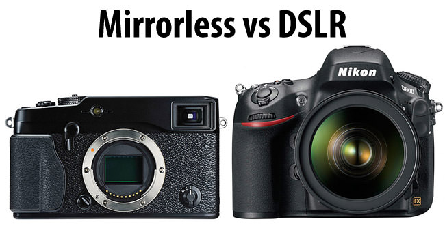 Image result for dslr vs mirrorless
