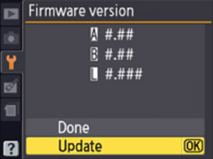 Latest Nikon DSLR Firmware Updates