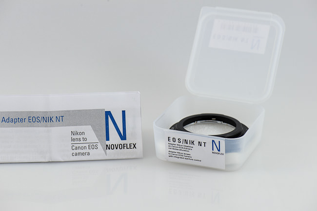 Novoflex Nikon to Canon Lens Adapter Packaging