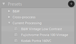 Save New Preset