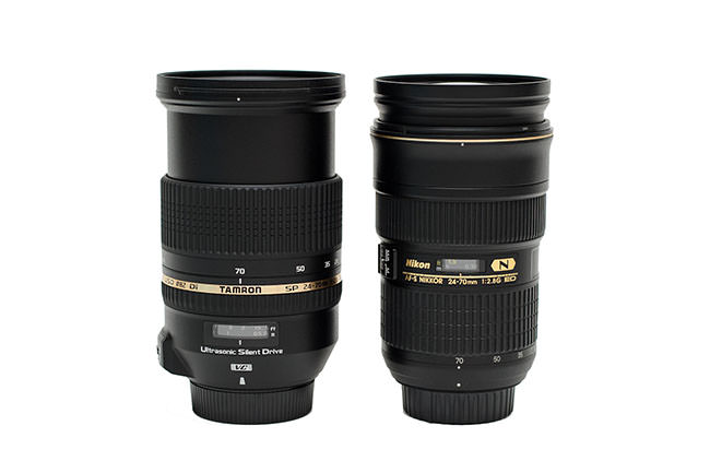 Tamron 24-70mm vs Nikon 24-70mm at 70mm