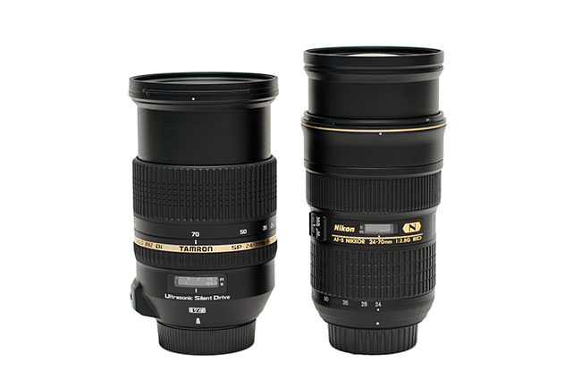Tamron 24-70mm vs Nikon 24-70mm fully extended