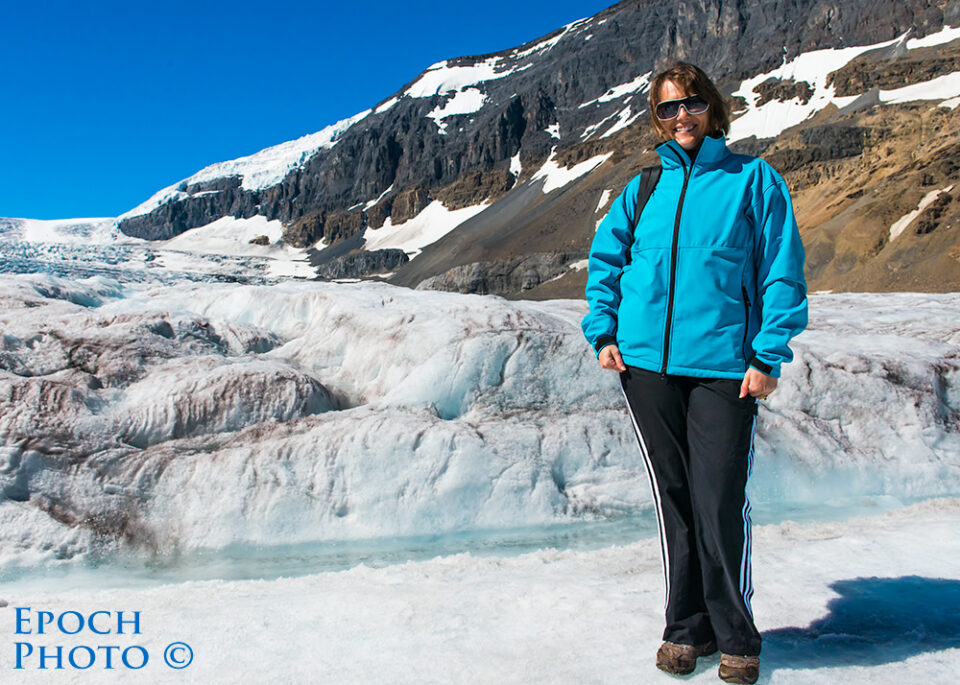 Tanya-on-Athabasca-Glacier