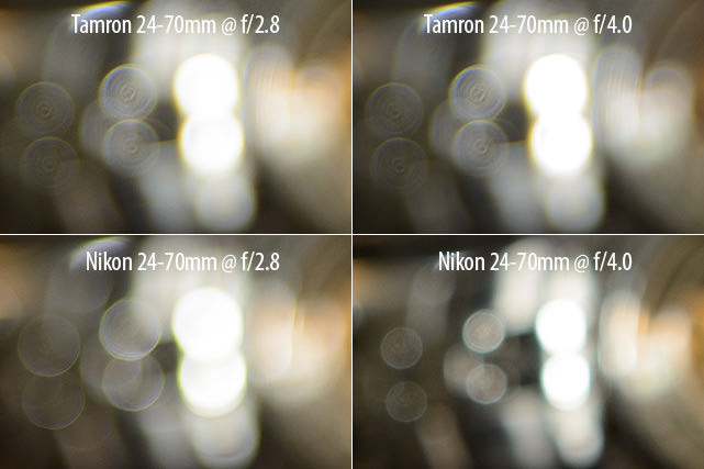 Tamron 24-70mm vs Nikon 24-70mm Bokeh Comparison