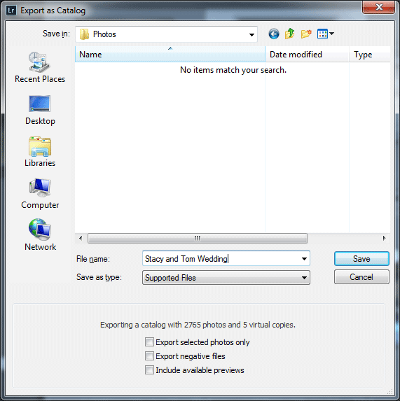 Export As Catalog