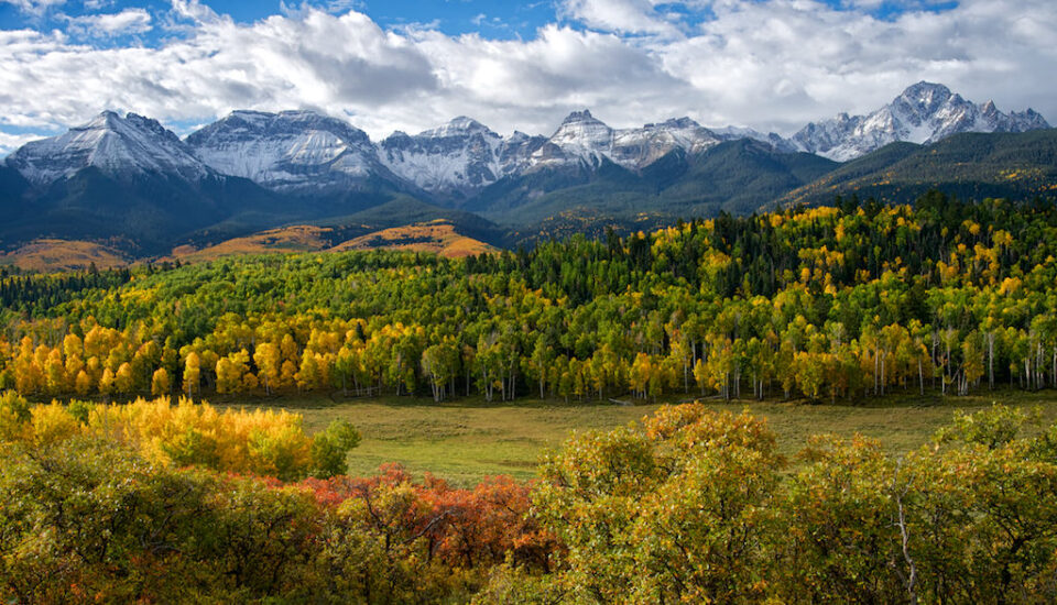 Mt. Sneffels Range in fall
