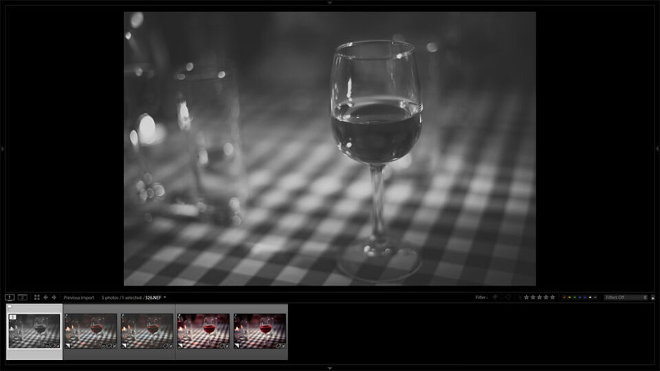 Lightroom Virtual Copies in Filmstrip