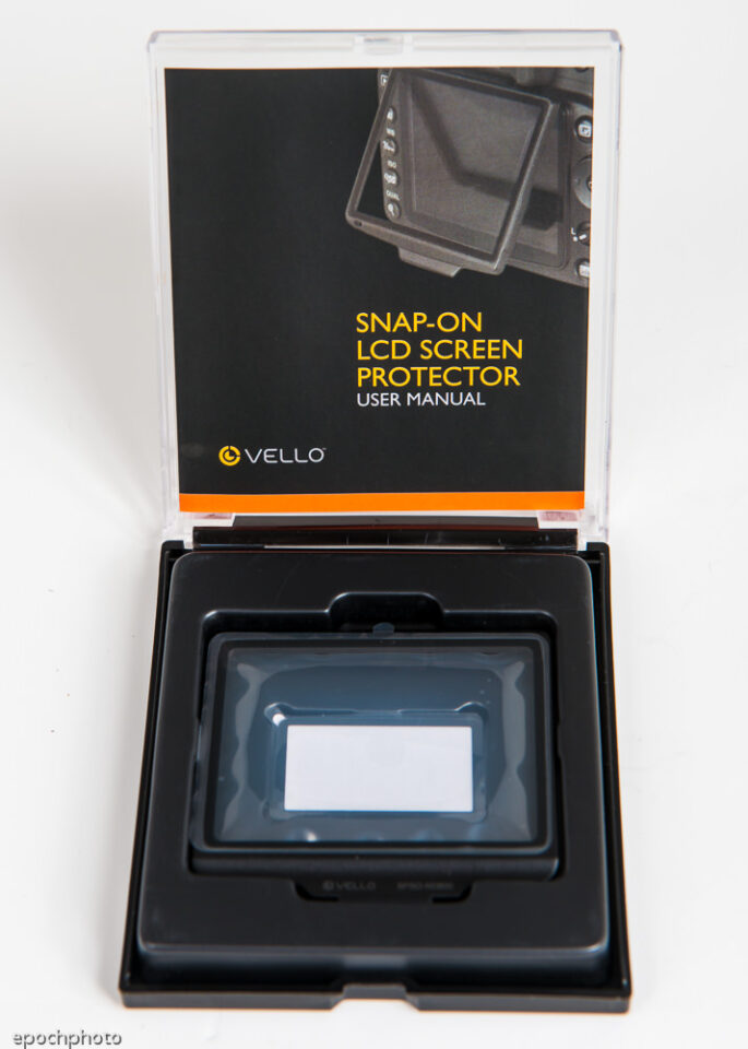 Vello D800 LCD Protector Package