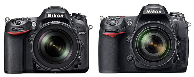 Nikon D7100 compared to D300s