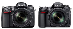 Nikon D7100 compared to D7000