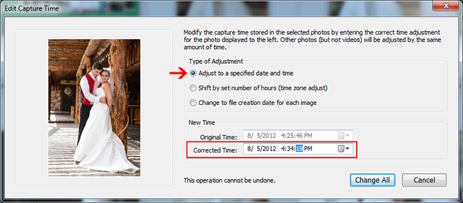 Lightroom Edit Capture Time Change