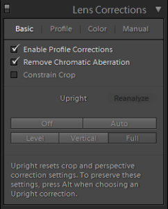 Lightroom Lens Corrections Explained
