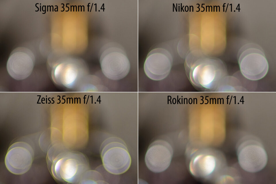 Sigma 35mm f/1.4 Bokeh Comparison