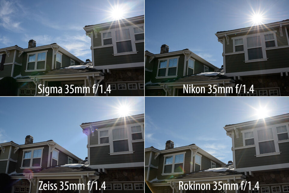Sigma 35mm f/1.4 Ghosting and Flare Comparison