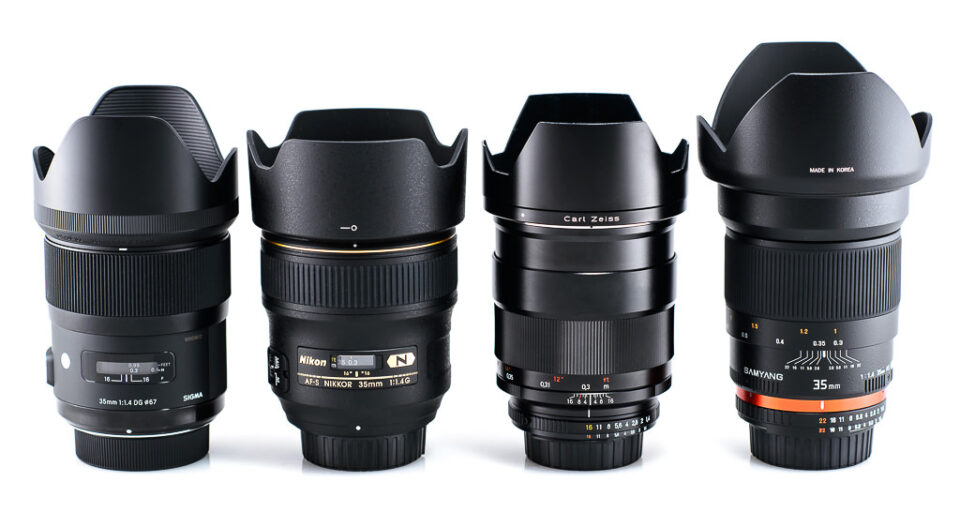 Sigma 35mm f/1.4 vs Nikon 35mm f/1.4 vs Zeiss 35mm f/1.4 vs Samyang 35mm f/1.4