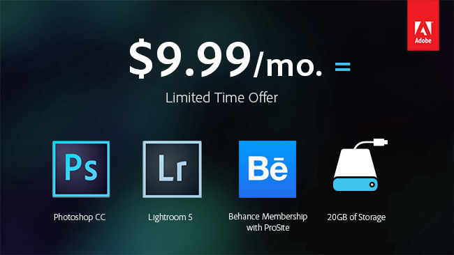 Adobe CC Limited Time Offer