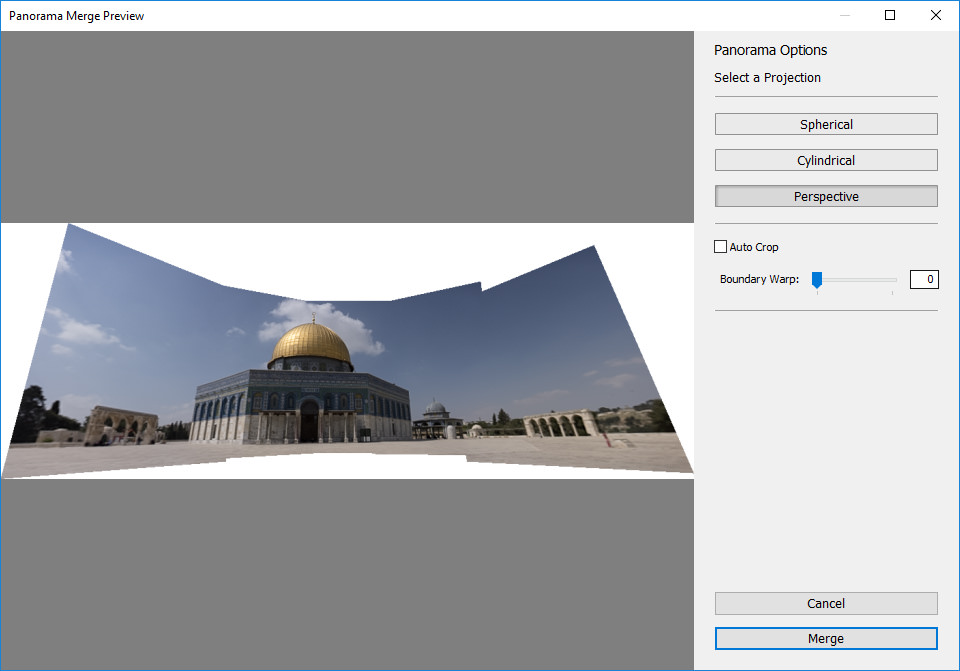 Lightroom Perspective Projection