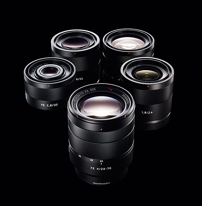 Sony Zeiss E Mount Lenses