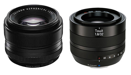 Fuji XF 35mm f/1.4 vs Zeiss Touit 32mm f/1.8